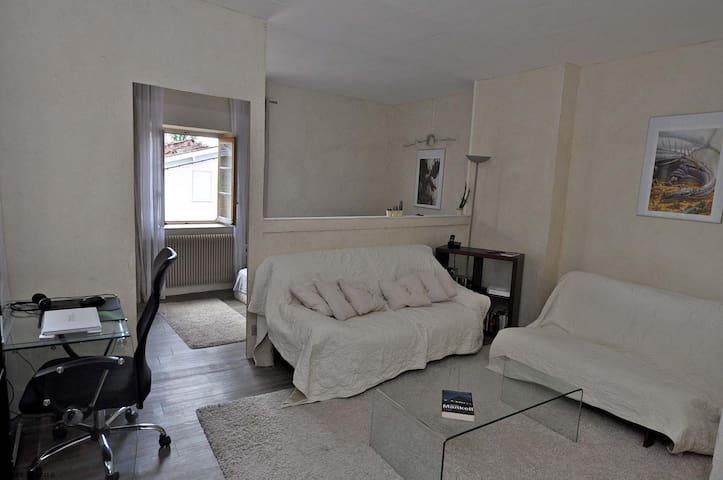 Grande chambre Ecrue de + de 25m2 à 15km de Lyon - Chasselay - Stadswoning