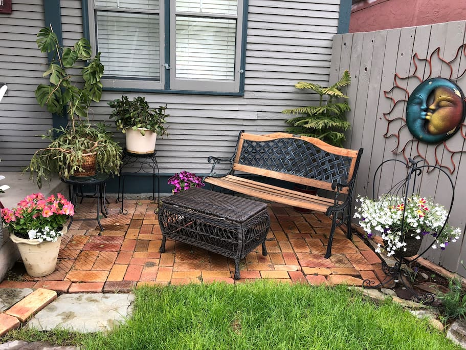 Have a seat in our outdoor living area