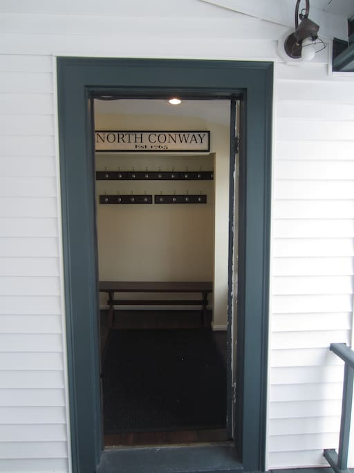 Side entrance off of wrap around porch