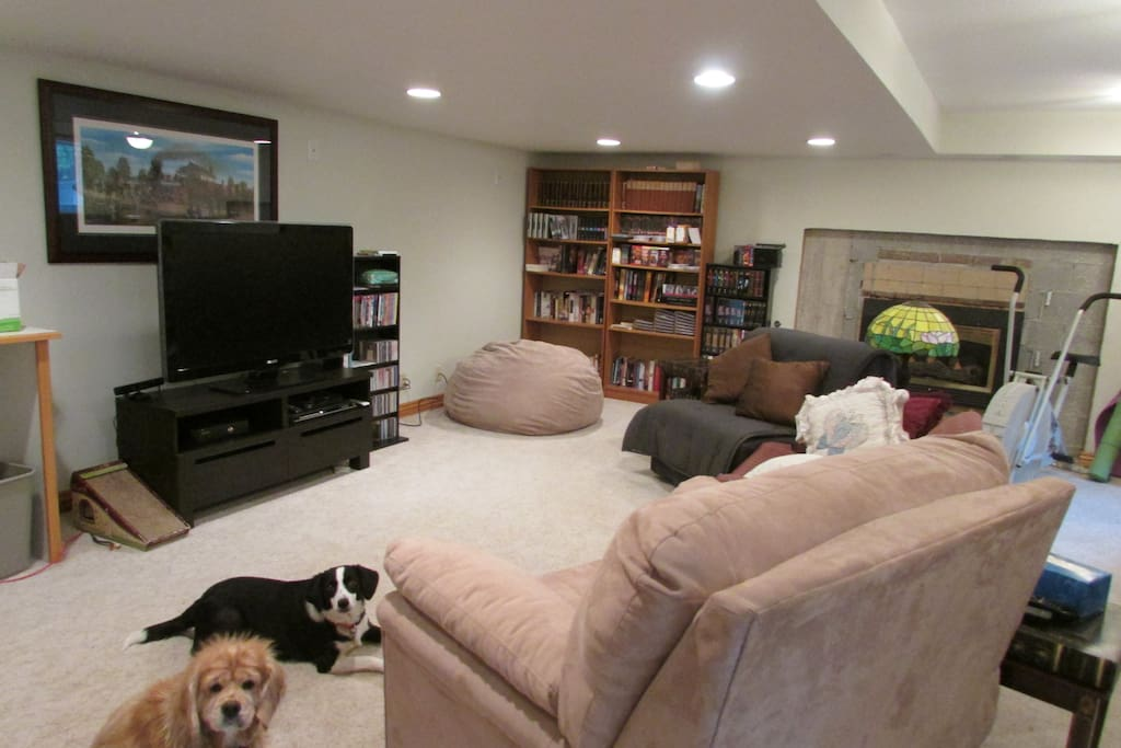 This is the TV/Media room complete with large scree TV, Xbox and tons of movies.