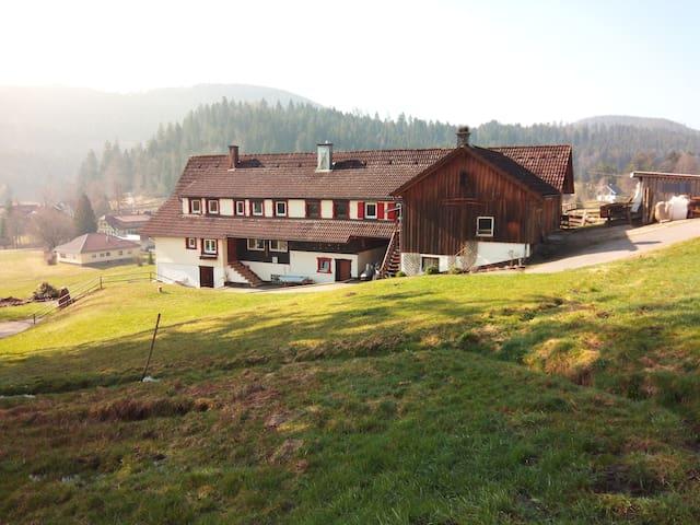Traditionelle Landhauswohnung mit Ausblick