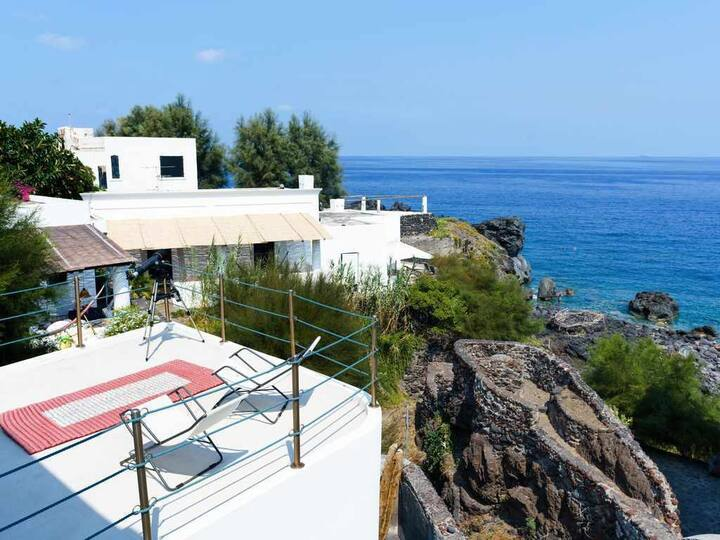Exclusive Stromboli's charm a few steps to the sea