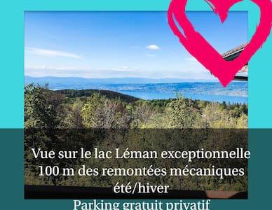 🌟Le Léman coeur de station- vue lac- parking ⭐⭐⭐