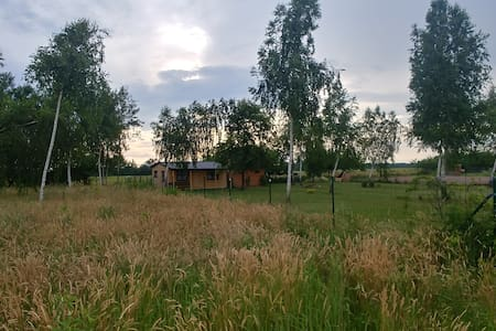 Domek drewniany w Grabniaku na dużej działce