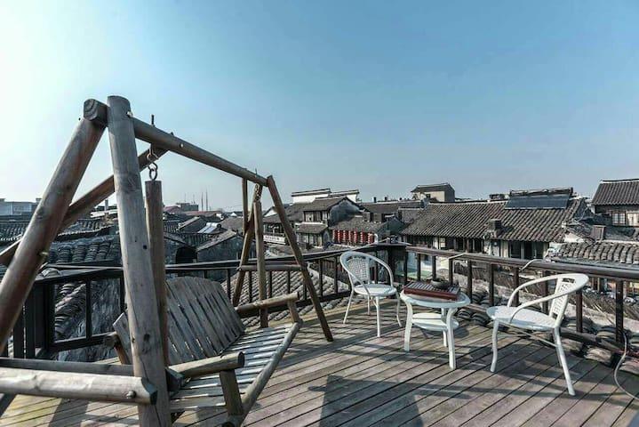 西塘古镇临河360度观景露台大床房 - Jiaxing - House