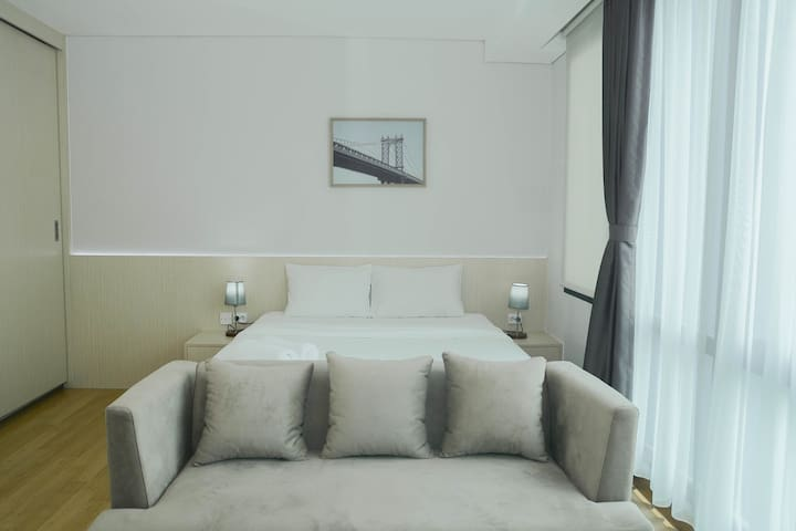 Comfortable Studio Room @ Capitol Suites Apartment