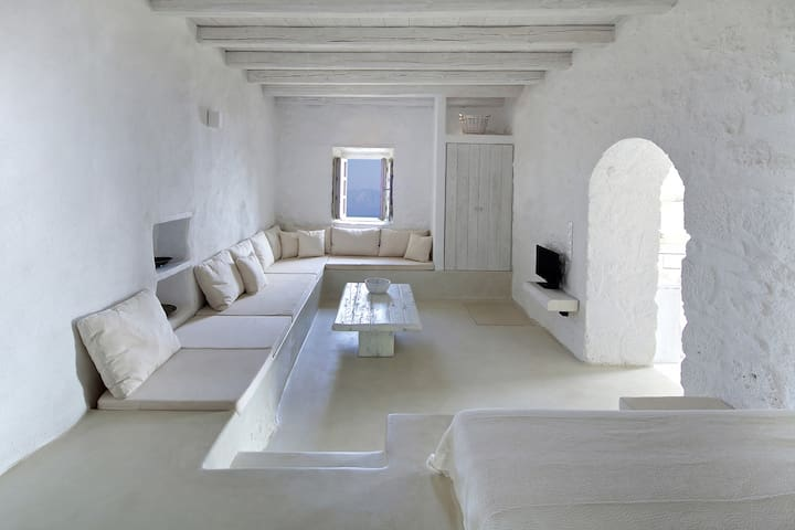 Elegance and authenticity - apartment downstairs - Emporios - Lägenhet