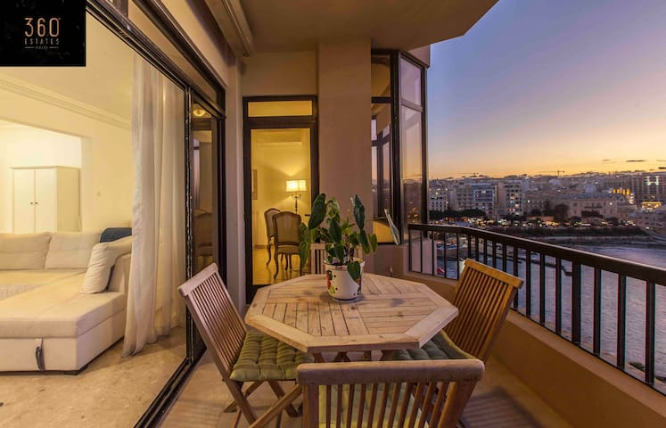 Sunny side of Sliema's Tower Rd. Apartment