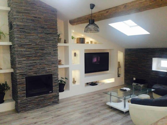 EURO 2016 chambre a 14 min du Stade - Saint-Genest-Lerpt - Apartment