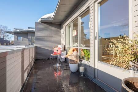 Modern apartment at Vinderen, 4 beds, 60 m2