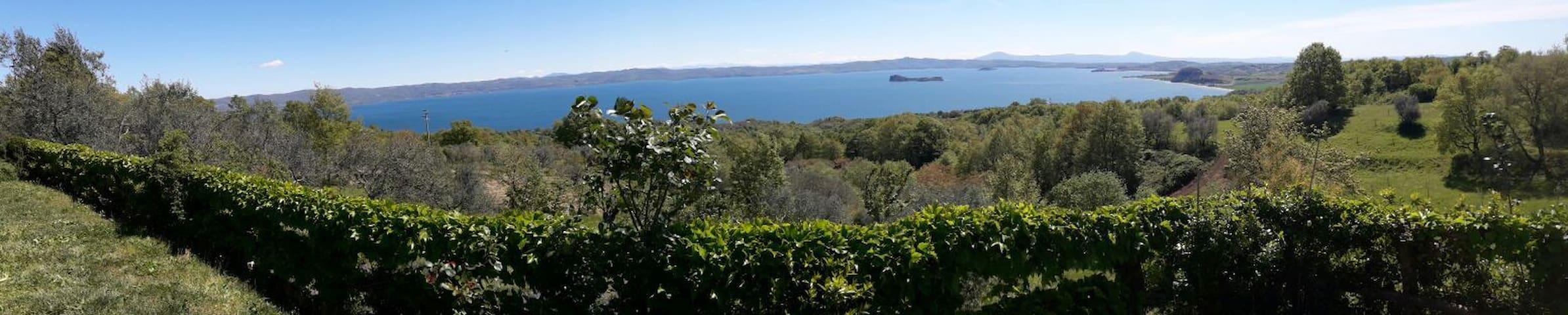 Vista panoramica e tranquillità - Gradoli - Huis