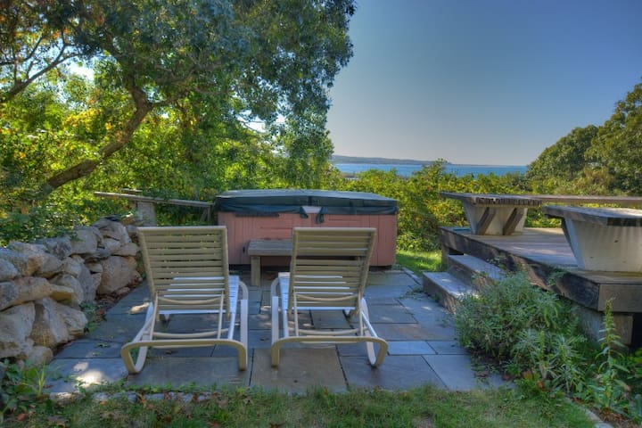 Chilmark home with sunset waterviews