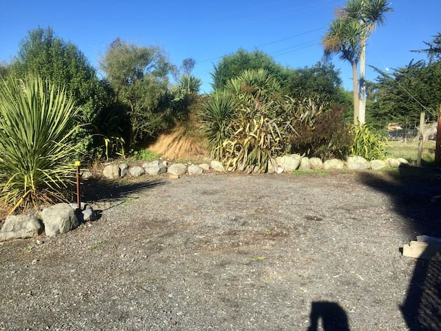 Kaikoura Camp site at Crayfish and Poultry Farm
