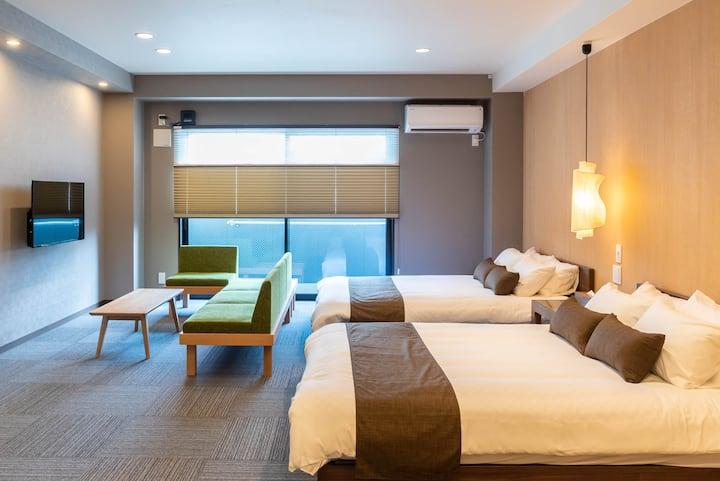 Designer room/5 mins to Namba/Bijou Suites AI