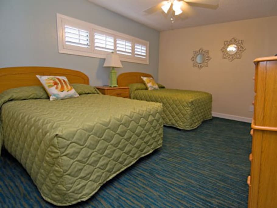 Guest BR has 2 Full Beds with Full Bath