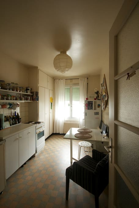 Fully equipped kitchen  oven, fridge, nespresso, kettle + spices