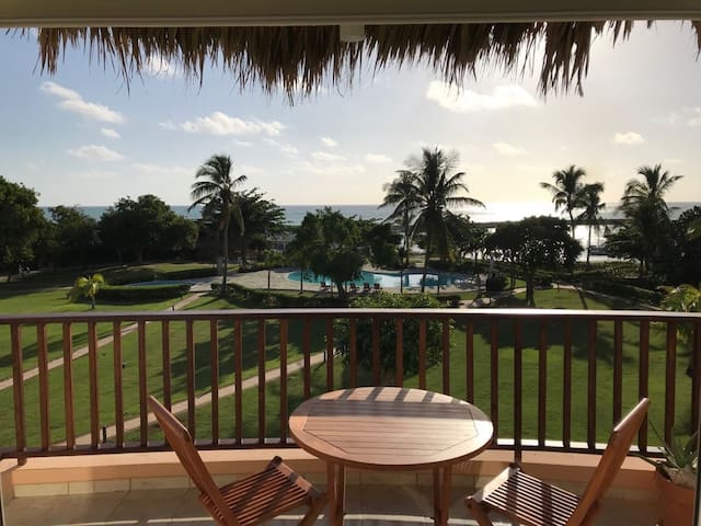 Seafront 1BR apartment in tropical nature