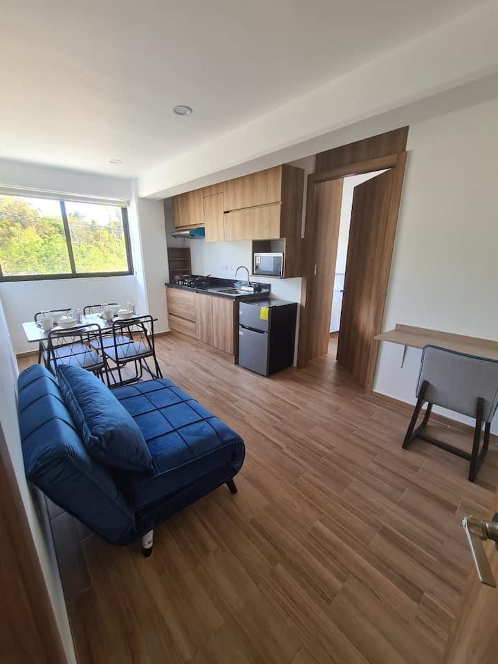 Suite amueblada y equipada con servicios