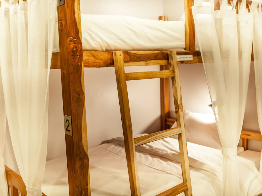 Bunk Beds are made of solid teakwood .