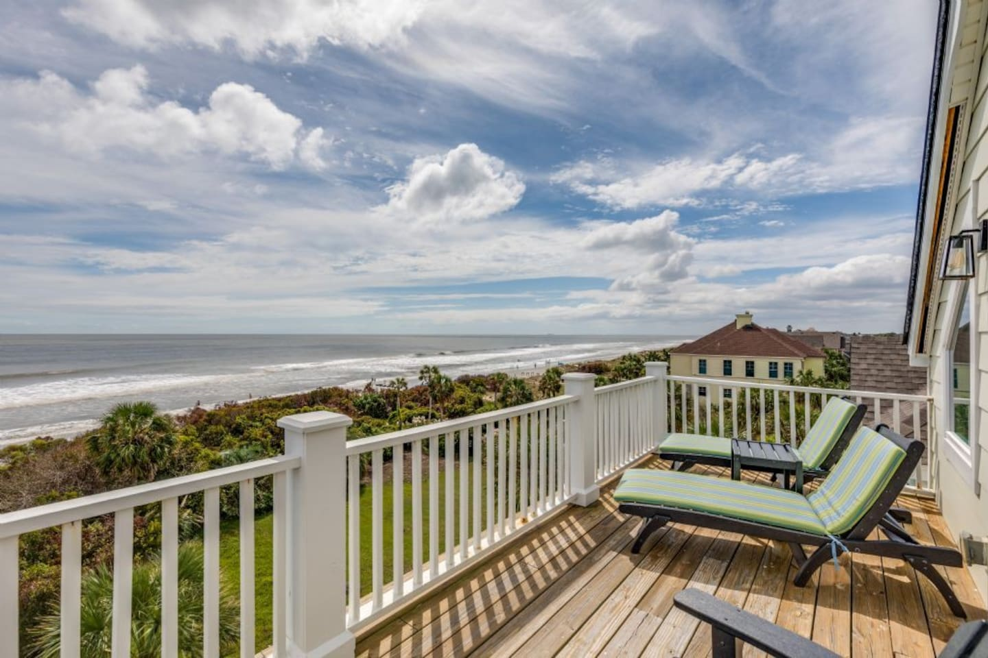 Beach View from the Private Master Bedroom Balcony