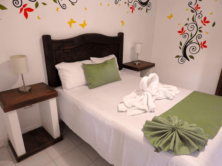 Habitación cama matrimonial para 1 o 2 personas
