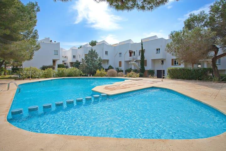 Apartamento con piscina comunitaria - Sol de Mallorca - Apartment