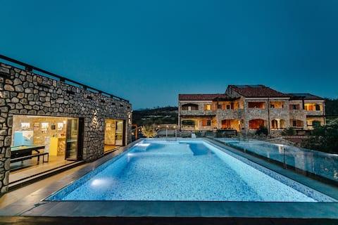 Ariel - family house, pool & bar, basketball court