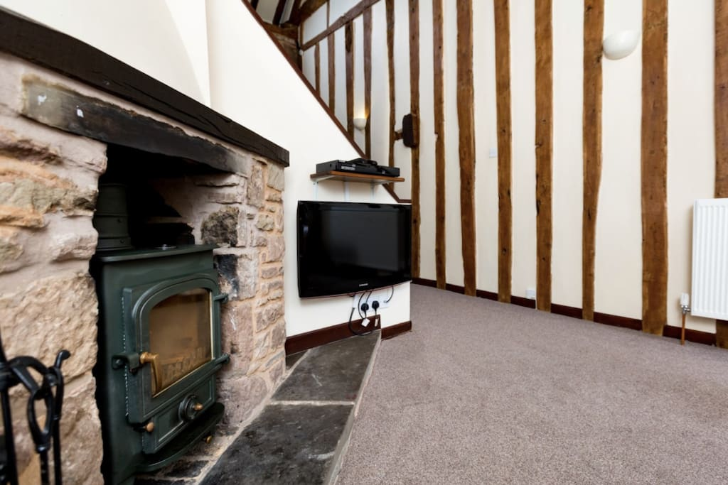 Incredible Beams and Wood Burner to relax and enjoy