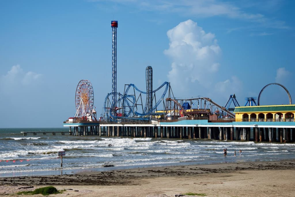 Pleasure Pier just blocks from the house.