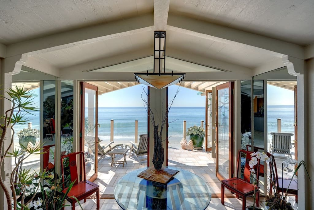 Ocean breezes blow gently through the French doors of our villa