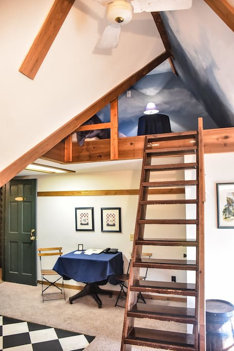 Up to the clouds - sleeping loft.