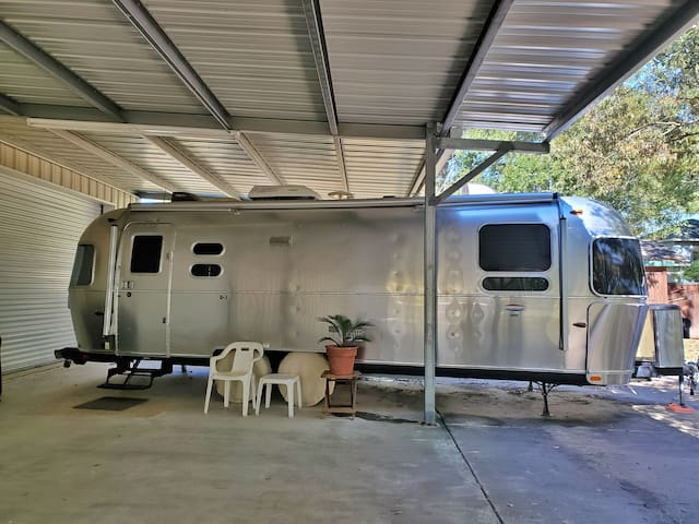Modern Airstream in the Pineywoods of TX