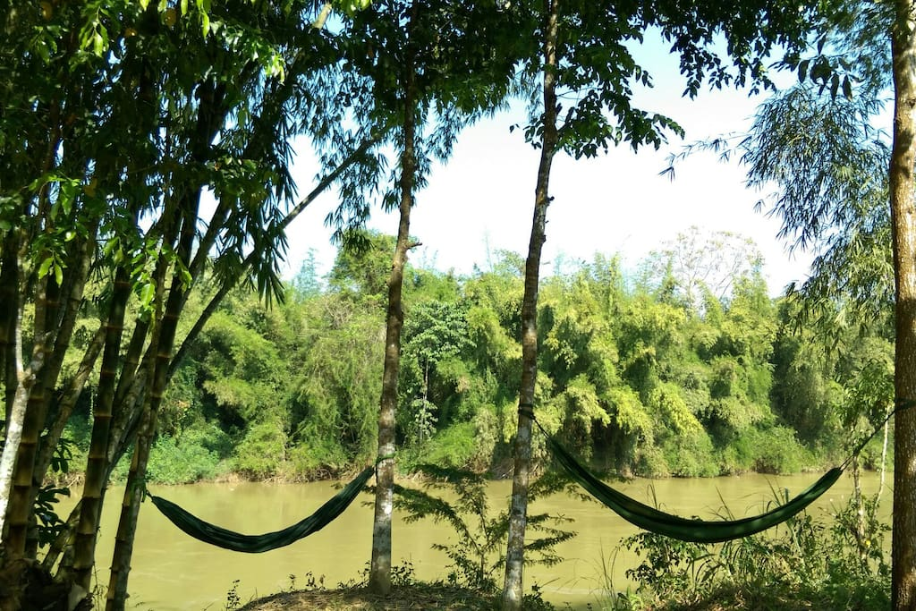 river view and hammock