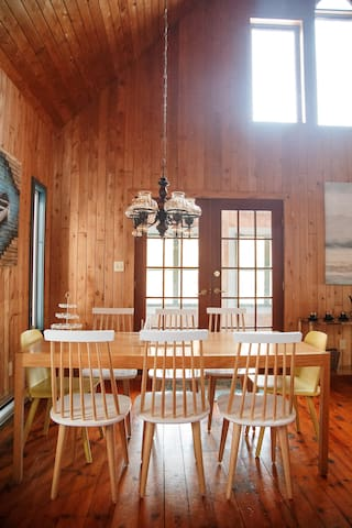 Filled with light and love, the cottage is both comfy and chic.