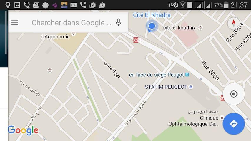 Maison au RDC  118 m2 à cité el khadra