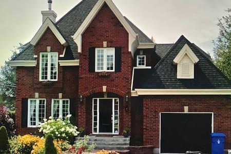 Family home, fireplace, solarium, pool, spa, pets - Blainville - Haus