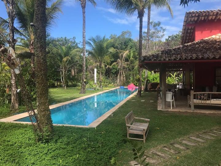 Bangalô Azul -  Espaçoso e com piscina - Trancoso