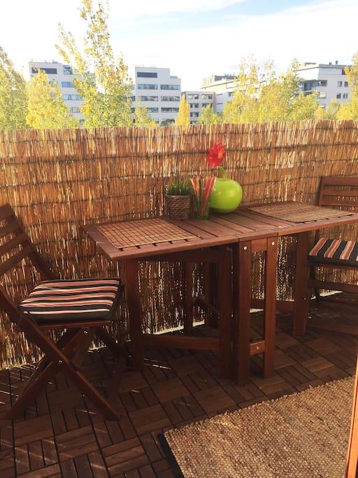 Sunny, cozy terrace