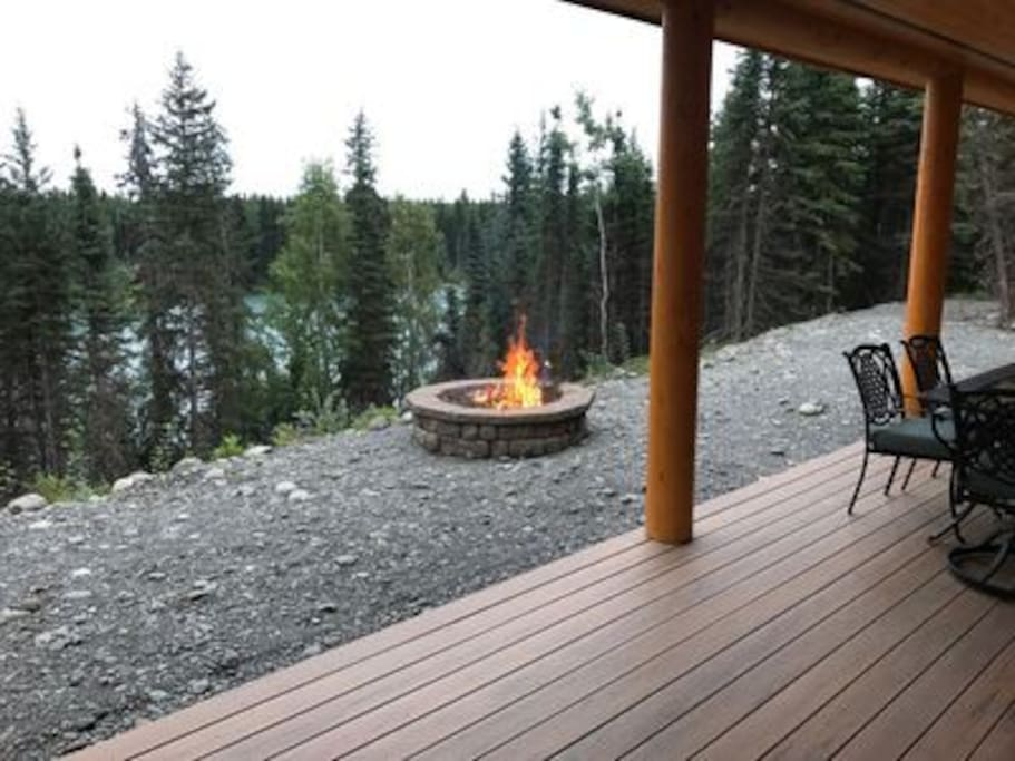 Fire Pit with River View
