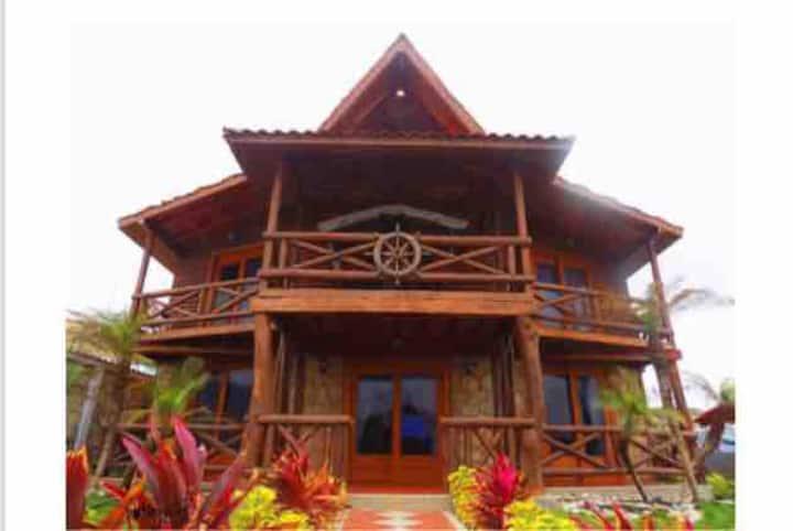 Hermosa casa de playa ecológica, lujo y comodidad