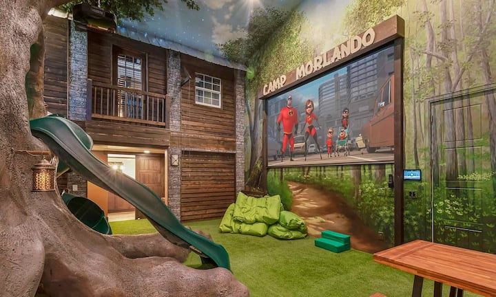 Elegant 10 Bdrm Mega Mansion with Laser Tag Arena and Tree House Camp at Reunion