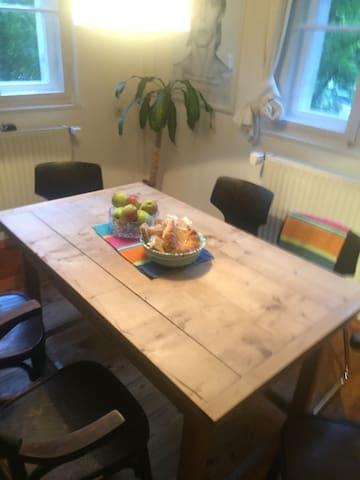 Sandsteinhaus-Zimmer, einmalige Lage, Doppelbett - Altdorf - House