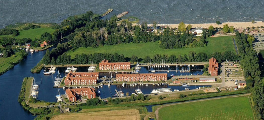 Hafenblick 3 bis zu 4 Pers Stettiner H Ostsee WLAN - Ueckermünde - Apartament