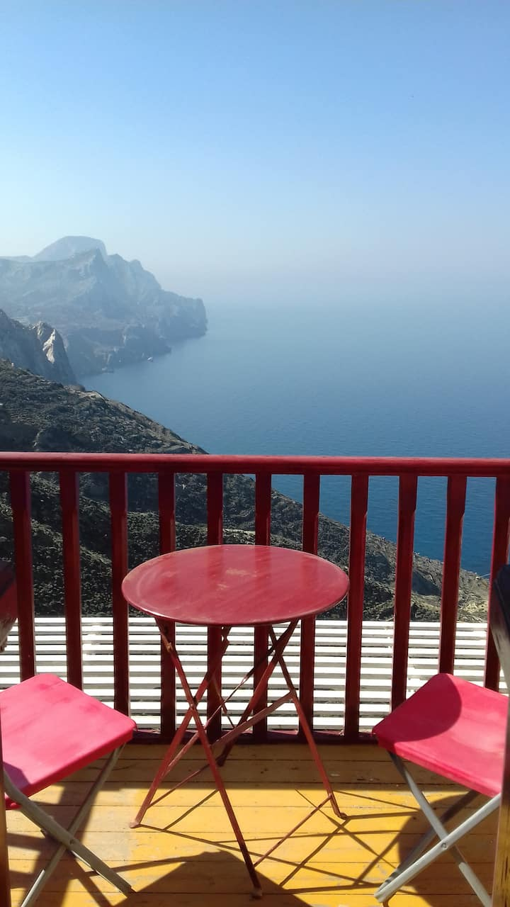 Stunning sea-view studio in Olympos (Anemos 1)