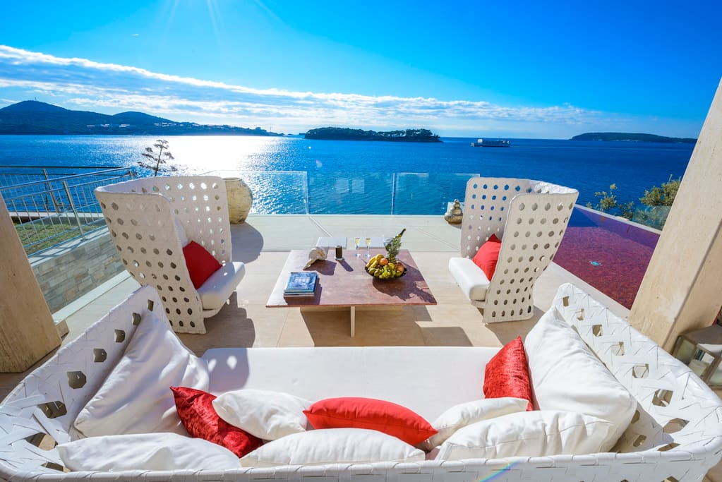 Relaxing area sea view