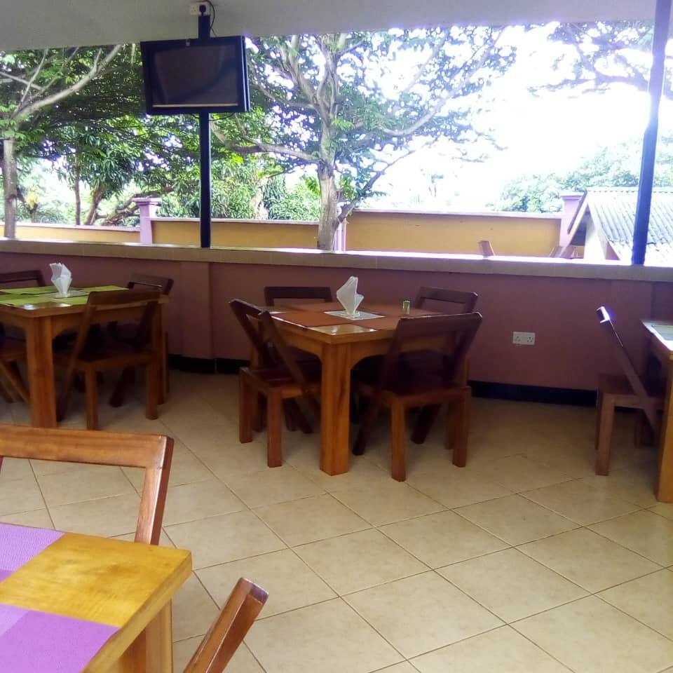 The Bar and Restaurant is serving foods on orders and all drinks from soft, beer, spirits and wines both local and exotic
