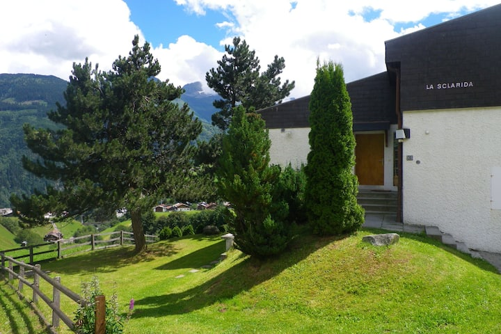 Apartment in Disentis with Garden, BBQ & Mountain Views