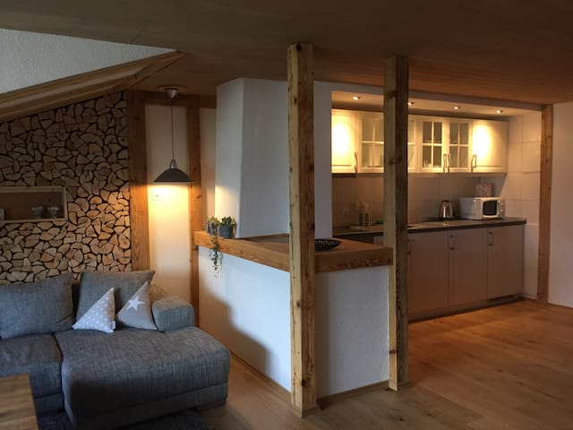 "Aarelodge riverside apartment ""wood"" - Unterseen - Huoneisto"