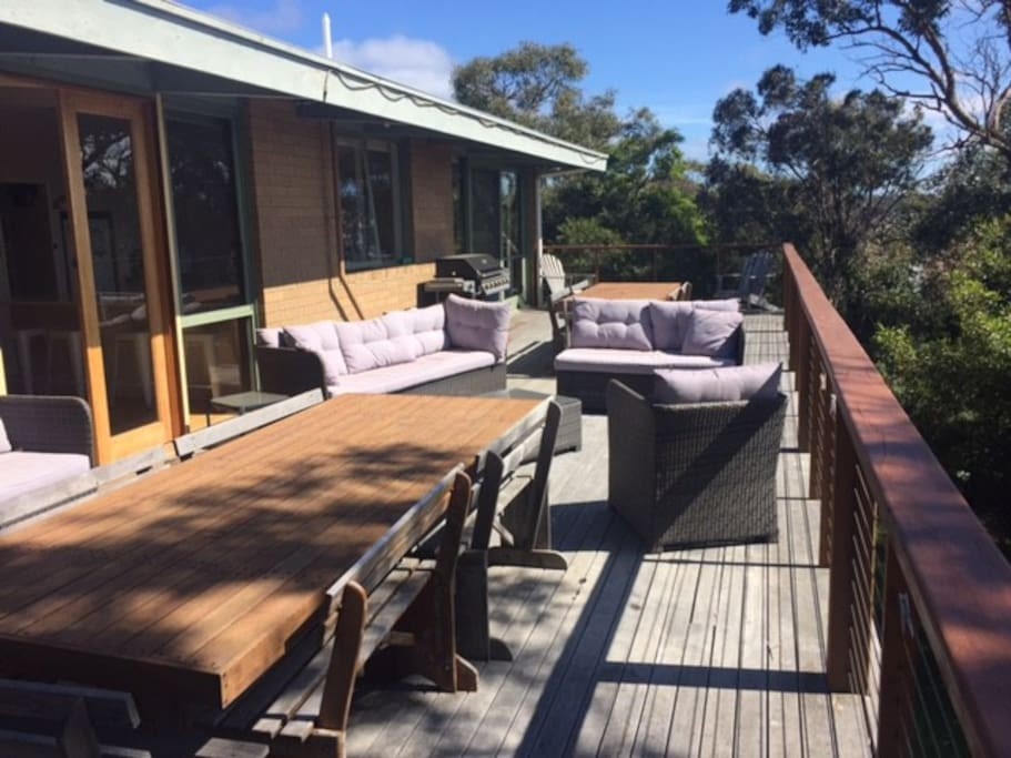 The large Nth East Facing deck a great spot to relax in the sun