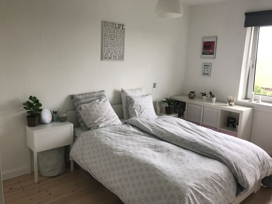 Large room with double bed